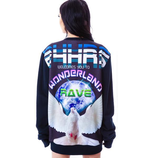 24HRS Wonderland Reversible Sweatshirt