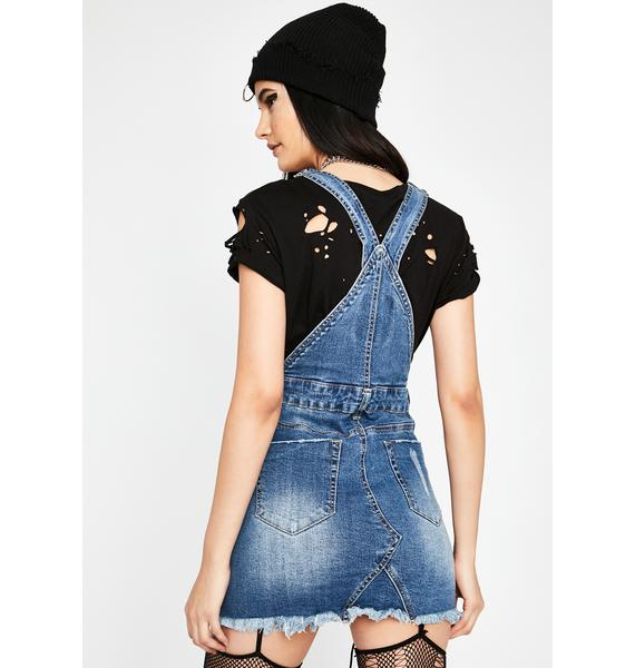 No Service Denim Skirtall