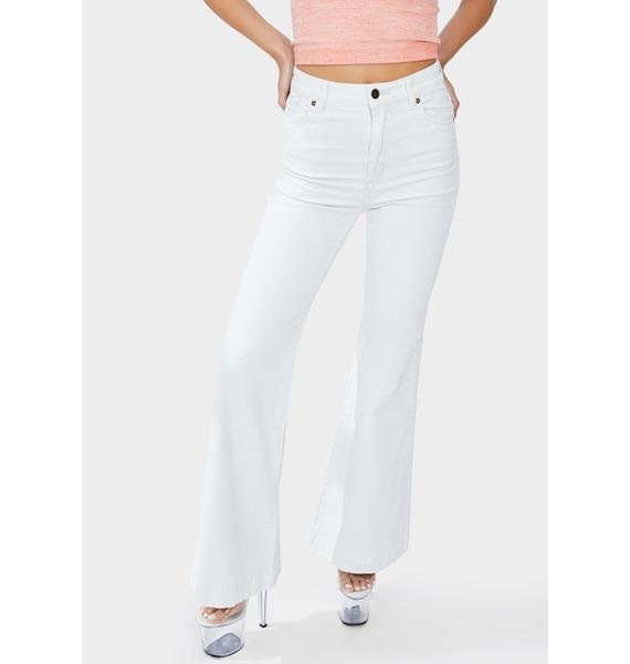 Rollas Sky Cord Eastcoast Flare Jeans