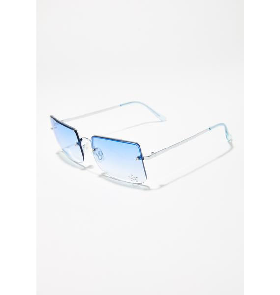 Good Times Eyewear Aqua She's A Star Frameless Sunglasses