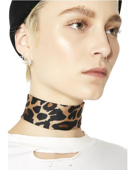 3 Small Words Leopard Choker