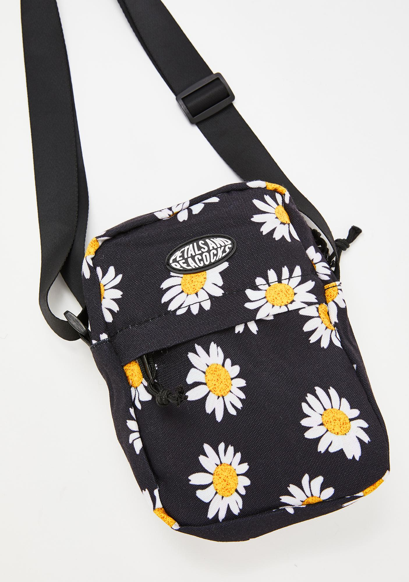 Petals and Peacocks Pocket Full Of Daisies Shoulder Bag