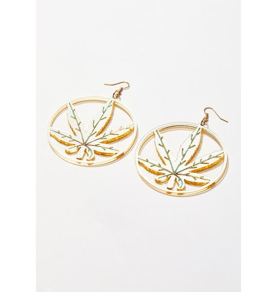 On A High Note Hoop Earrings