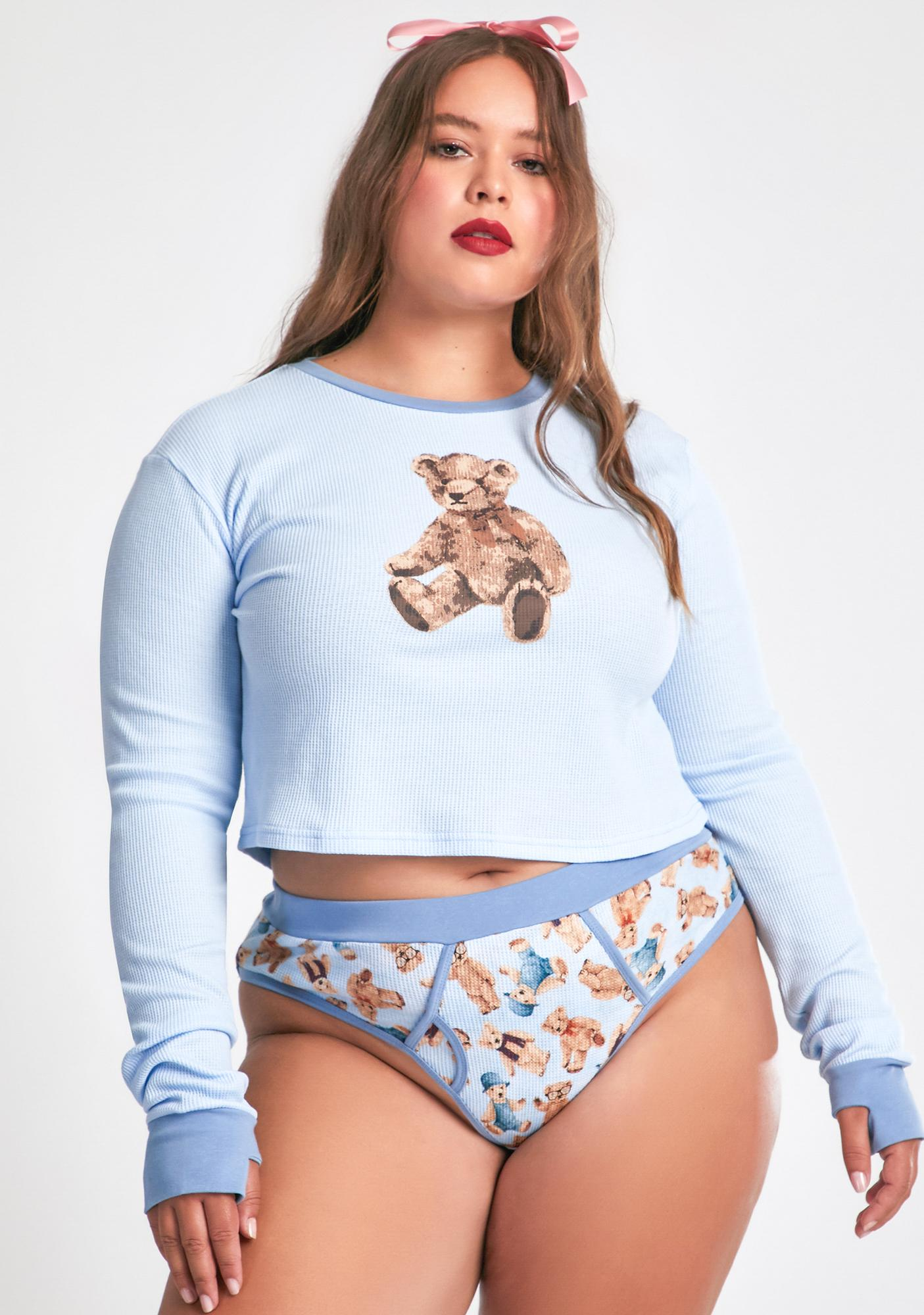dELiA*s by Dolls Kill Soft Duh Double Stuffed Thermal Tee