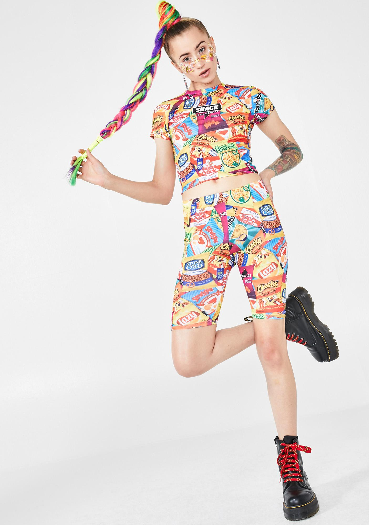 Current Mood Junk Foodie Biker Shorts