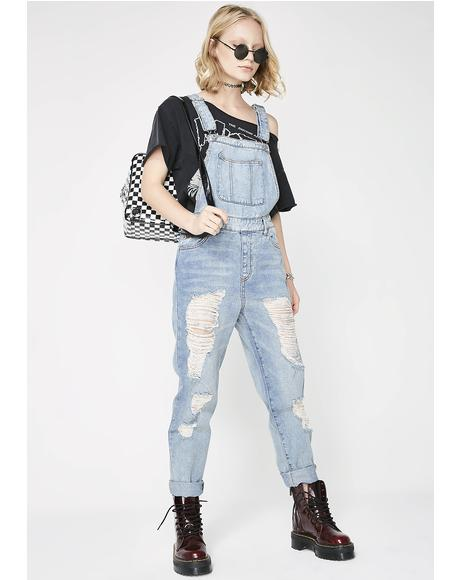 Play Games Denim Overalls