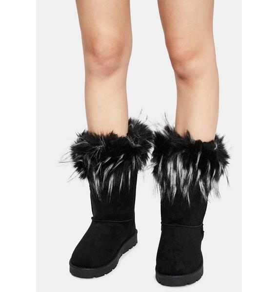 Shade You're Getting Warmer Faux Fur Boots
