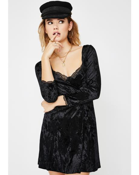 Kat Velvet Mini Dress