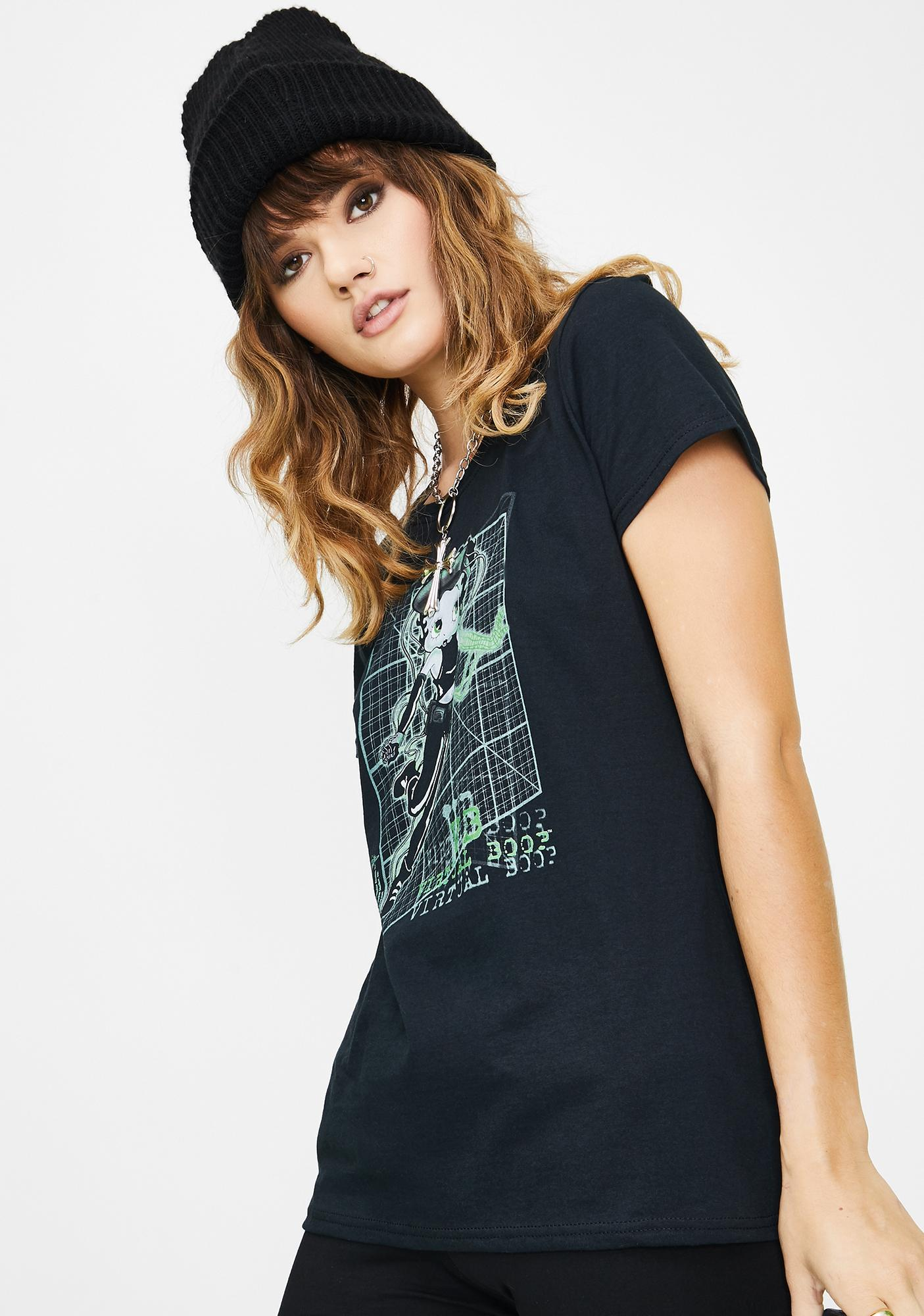 Trevco Virtual Betty Boop Graphic Tee