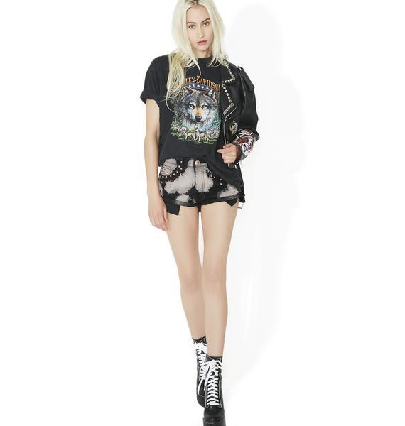 Wild Summer Bleached Shorts