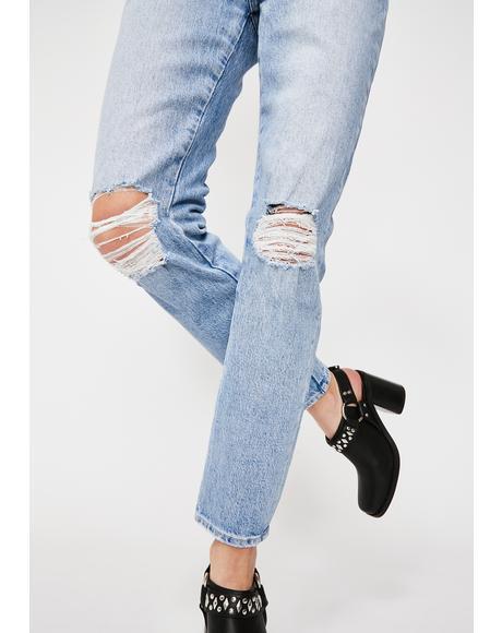 Faded Vintage Miller Skinny Jeans
