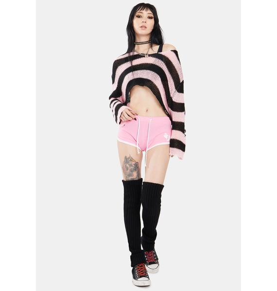 Too Fast Baby Ghoul Booty Shorts