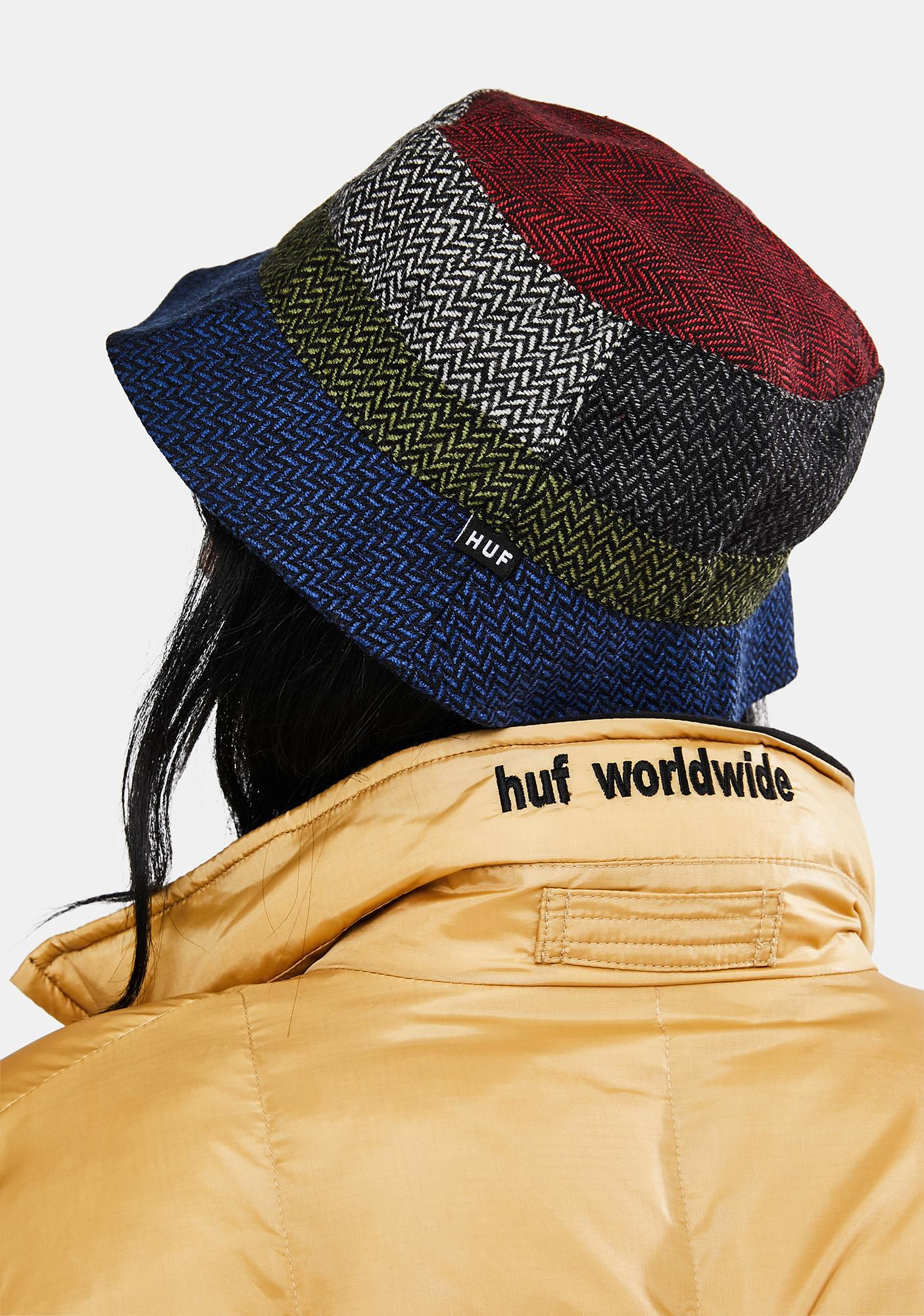 HUF Pops Herringbone Bucket Hat