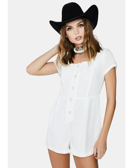 Relaxed Embroidery Style Playsuit