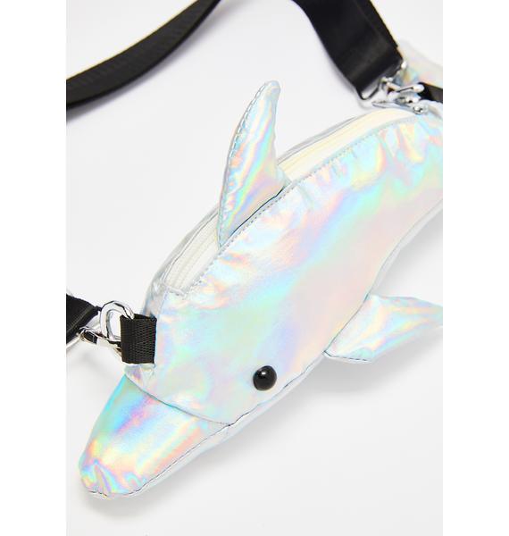 HOROSCOPEZ Dolphin Dive Hologram Bag