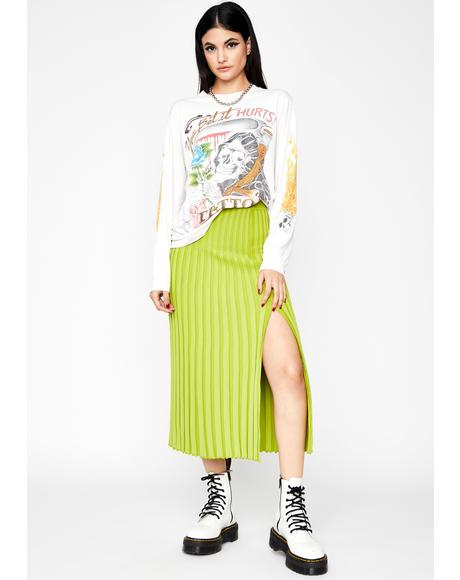 Nuclear Grunge Delusion Midi Skirt