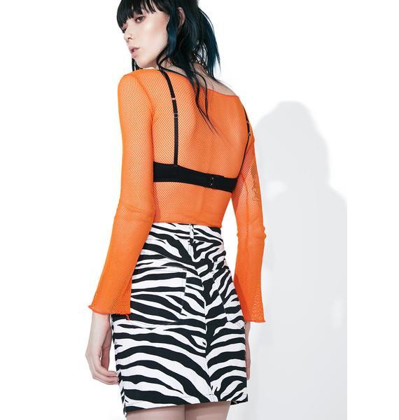 Motel Zebra Broom Skirt
