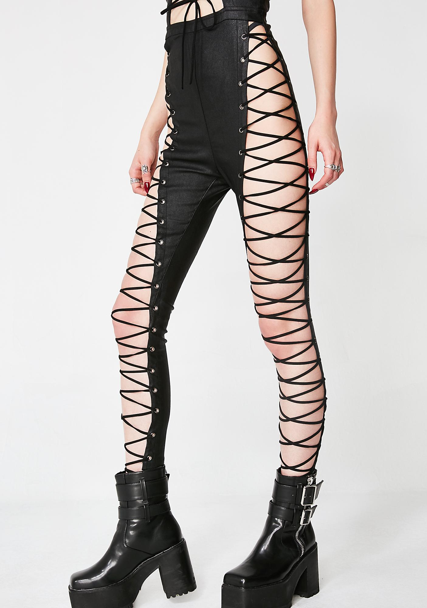 Dark Desire Lace-Up Jumpsuit