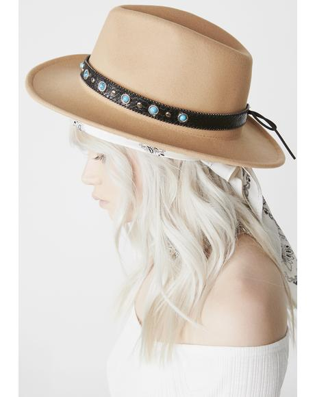 Precious Gem Wide Brim Hat
