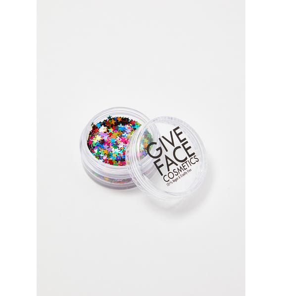 Give Face Cosmetics Alpha Star Poly Shapes Rainbow Glitter