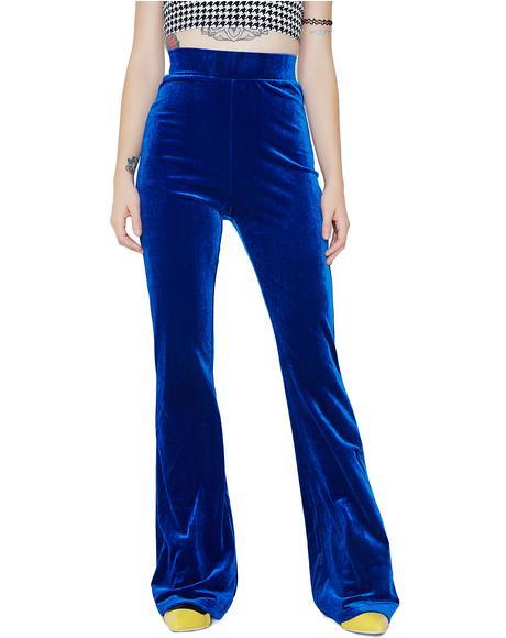 Sapphire Persuasion Velvet Pants