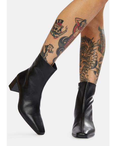 Tessa Leather Ankle Boots