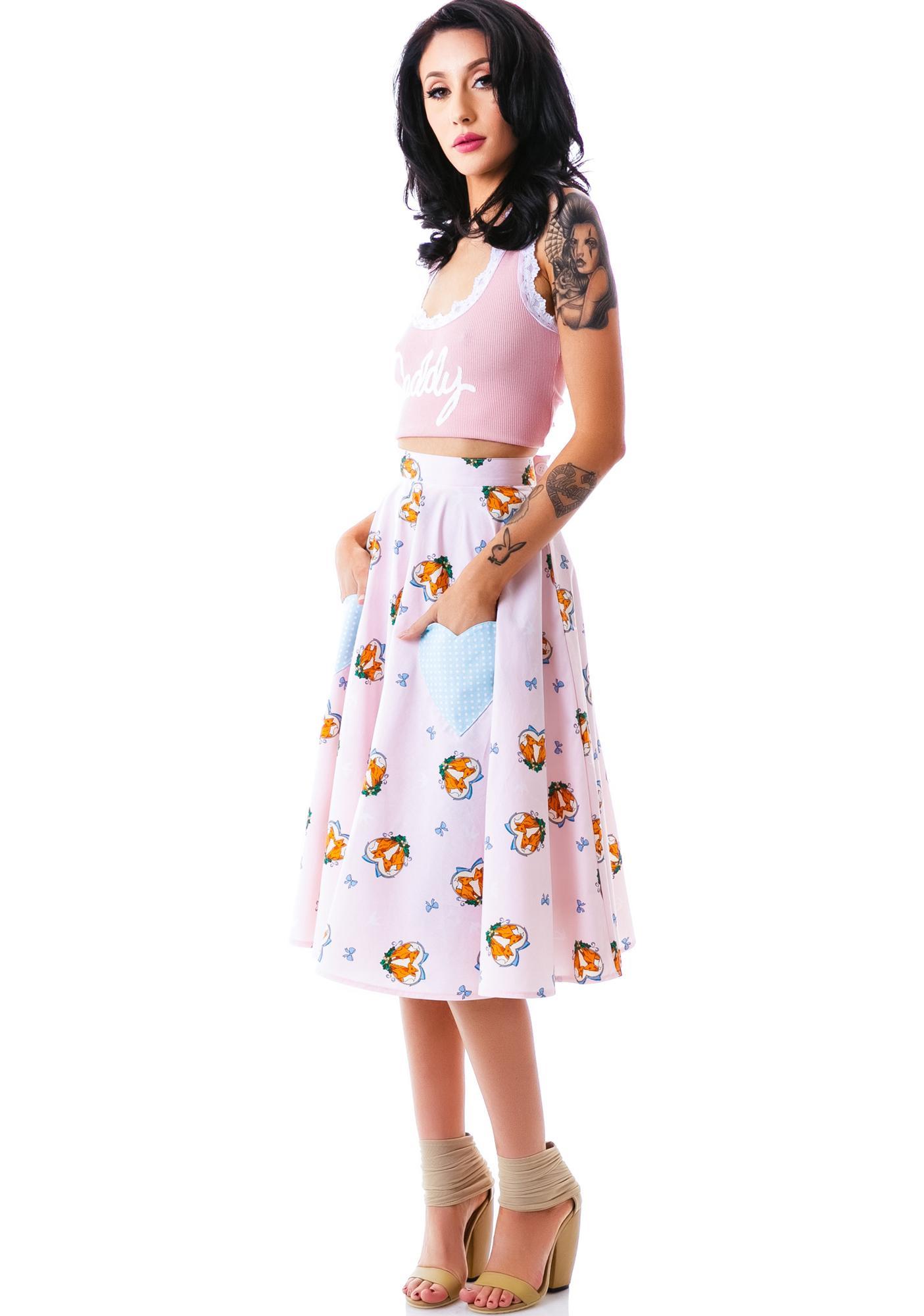 Hell Bunny So Foxy Skirt