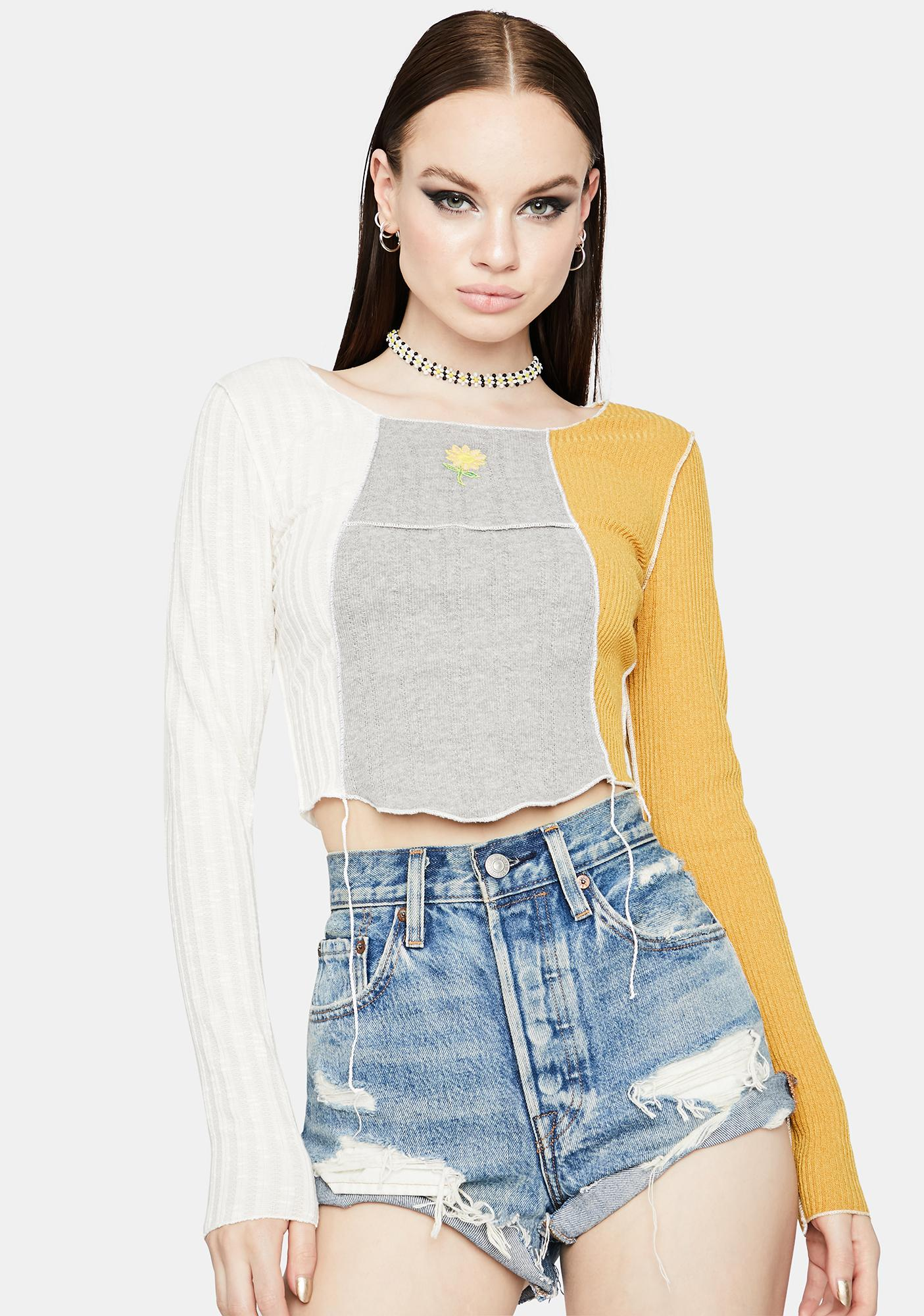 Here Comes The Sun Colorblock Top