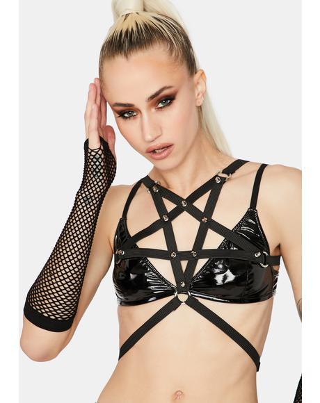 Pentagram Power Spiked Harness