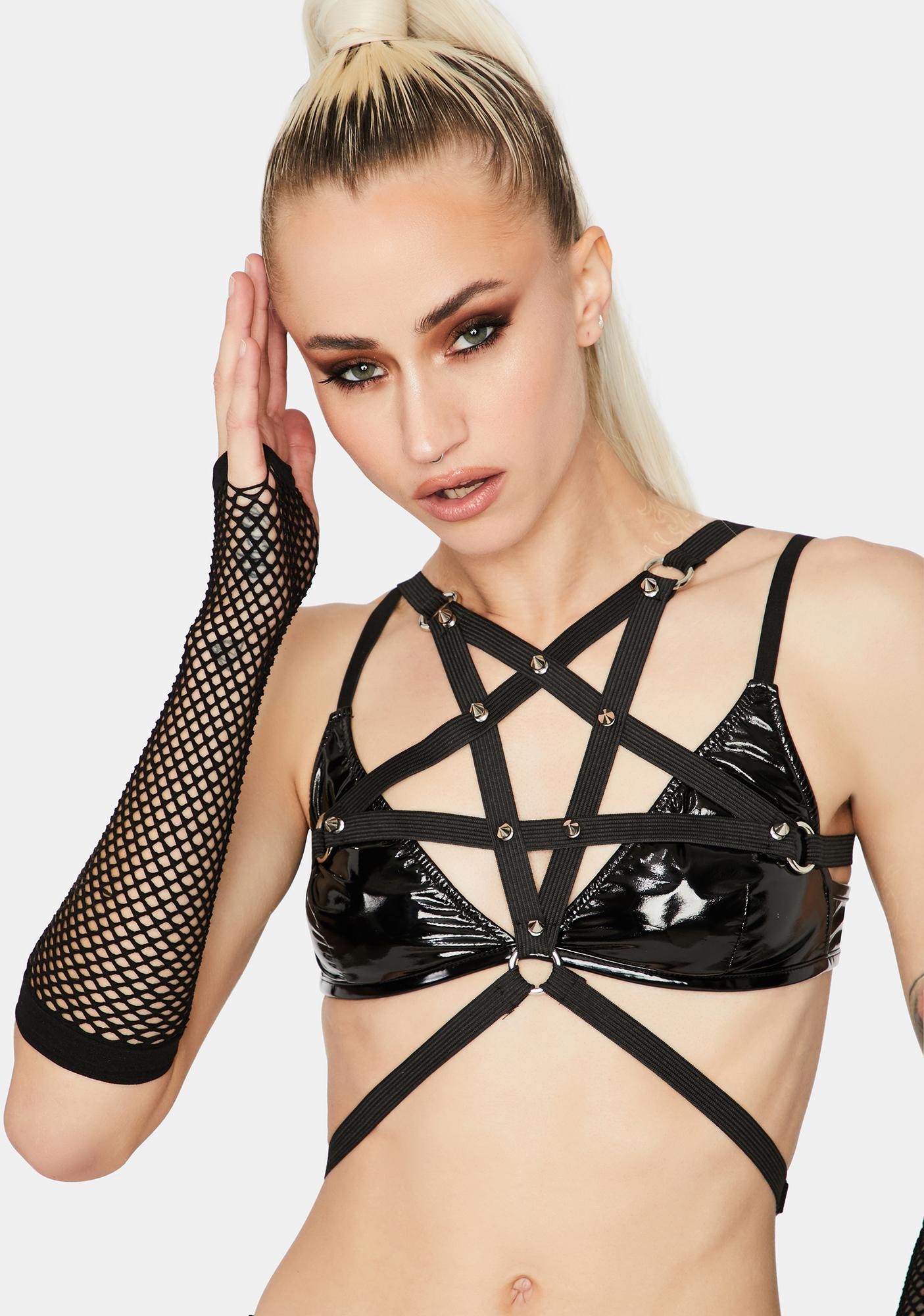 Pentagram Power Spiked Harness