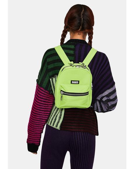 Lime Modest Mini Backpack