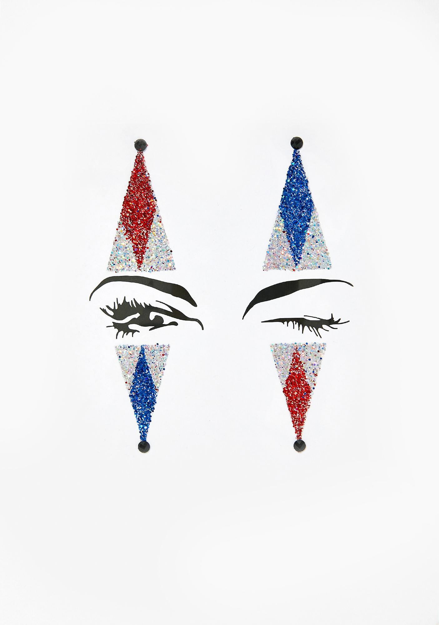 The Gypsy Shrine Clown Face Glitter Stickers