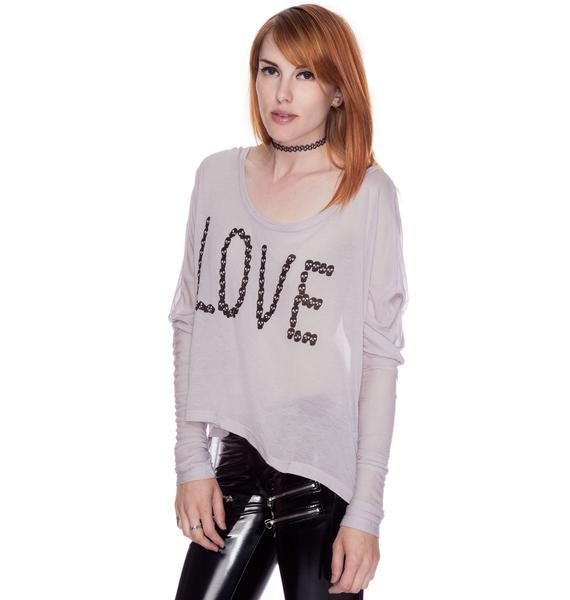 Lafine Love By Skull Long Sleeve Tee