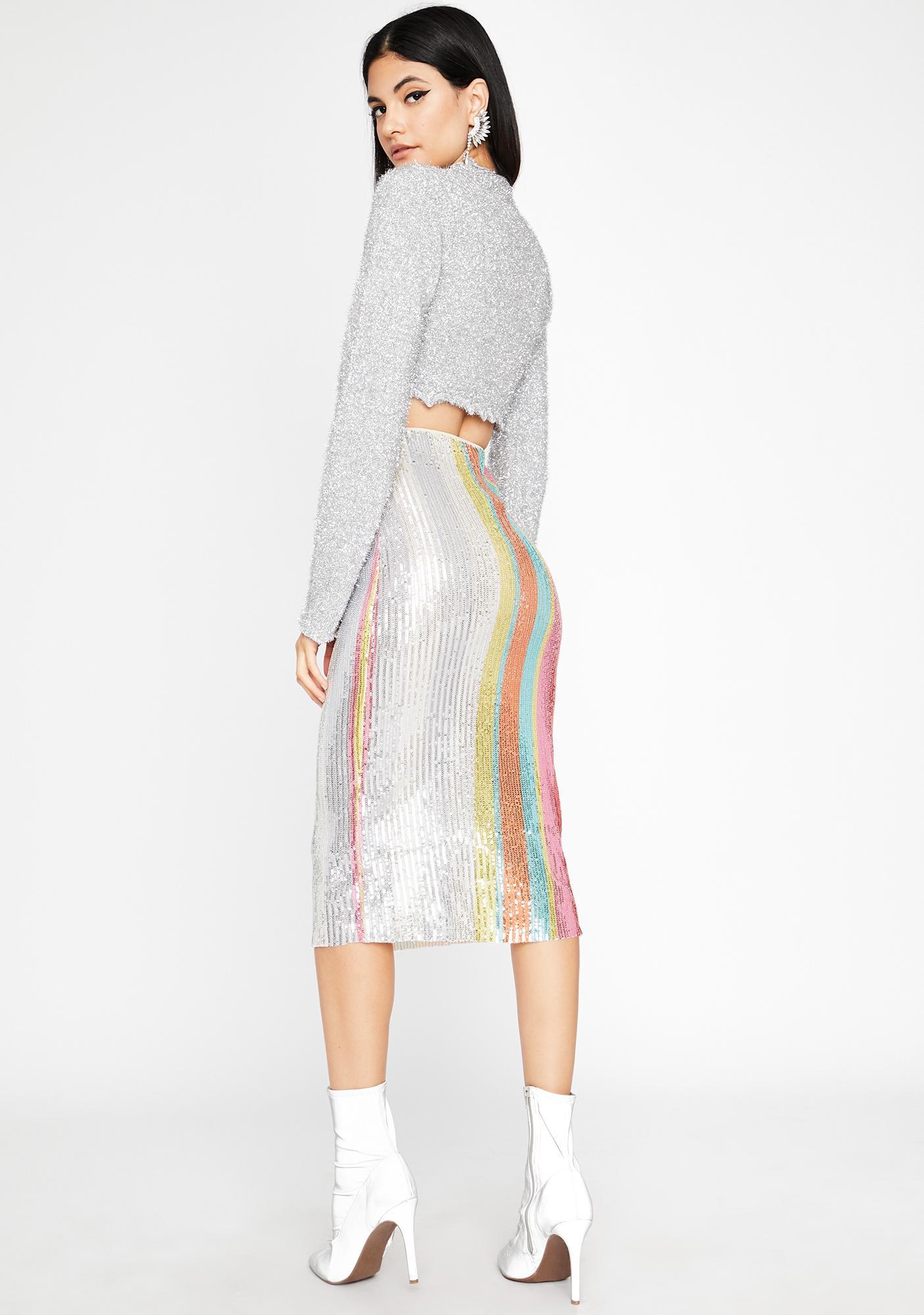 Bright N' Shining Sequin Skirt