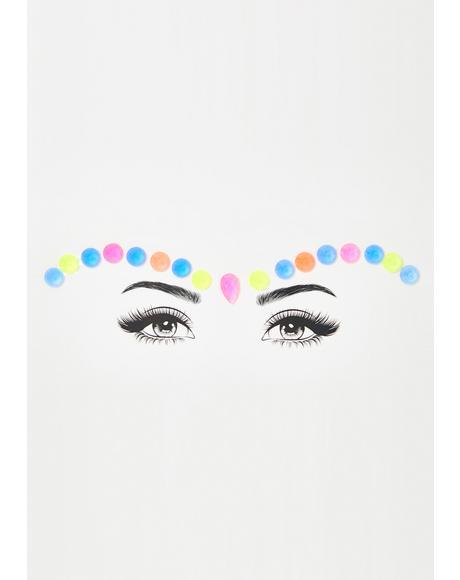 Dream In Pastel Face Gems