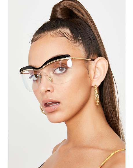 Gilded See Right Thru U Clear Sunglasses