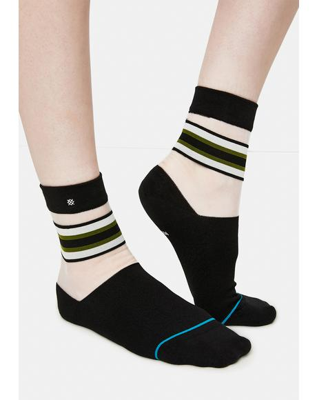 Noir Joan Sheer Socks