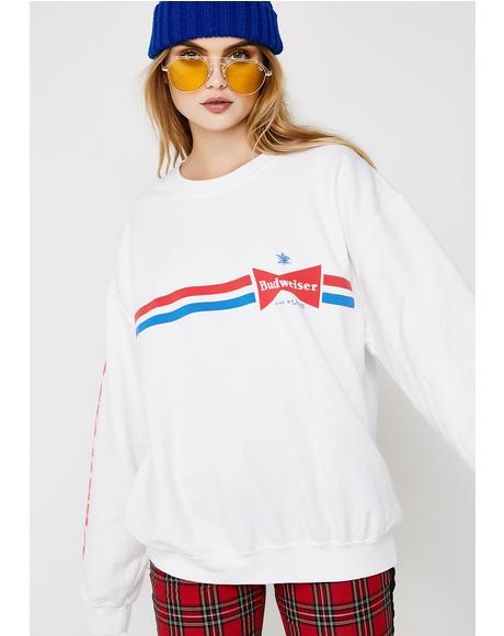 Budweiser Stripes Sweatshirt