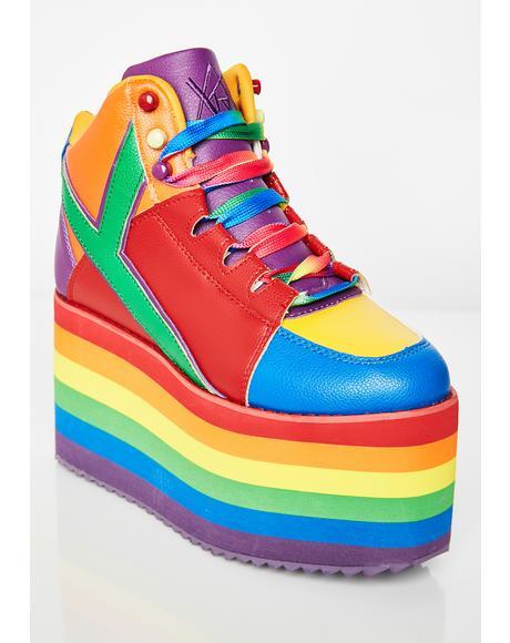 Qozmo Pride Platform Sneakers