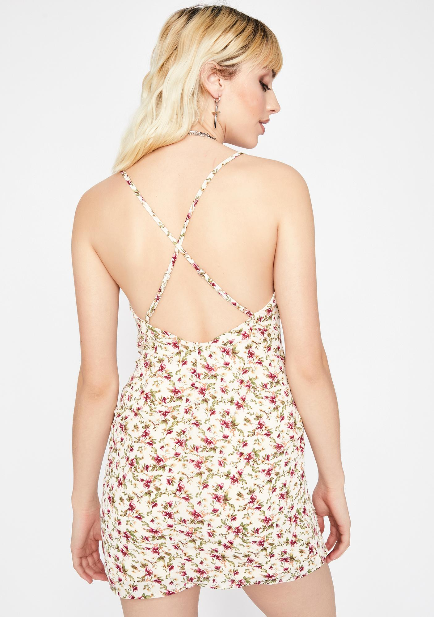 Secrets Thru The Grapevine Floral Dress