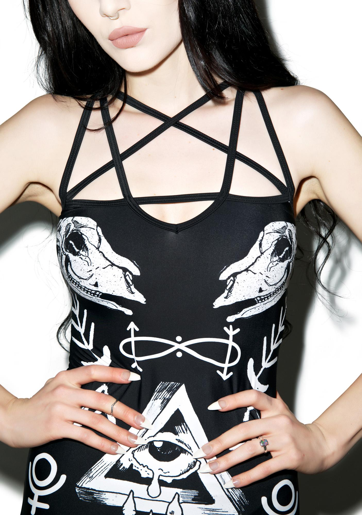Evil Prevails Bodycon Dress