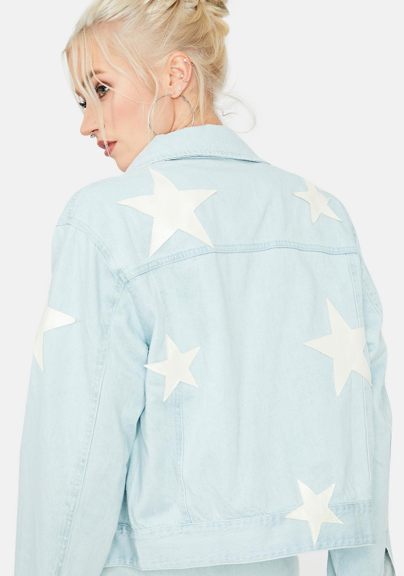 Road Less Traveled Star Patch Jean Jacket