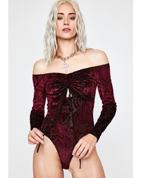 Faithless Intuition Velvet Bodysuit