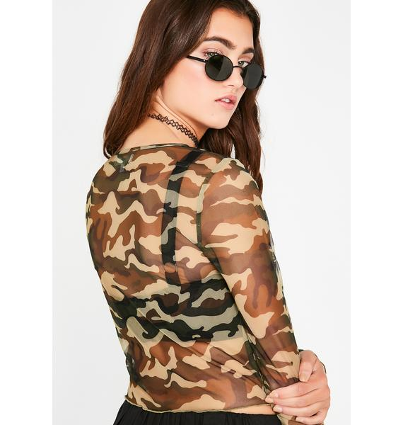 About Face Camo Top