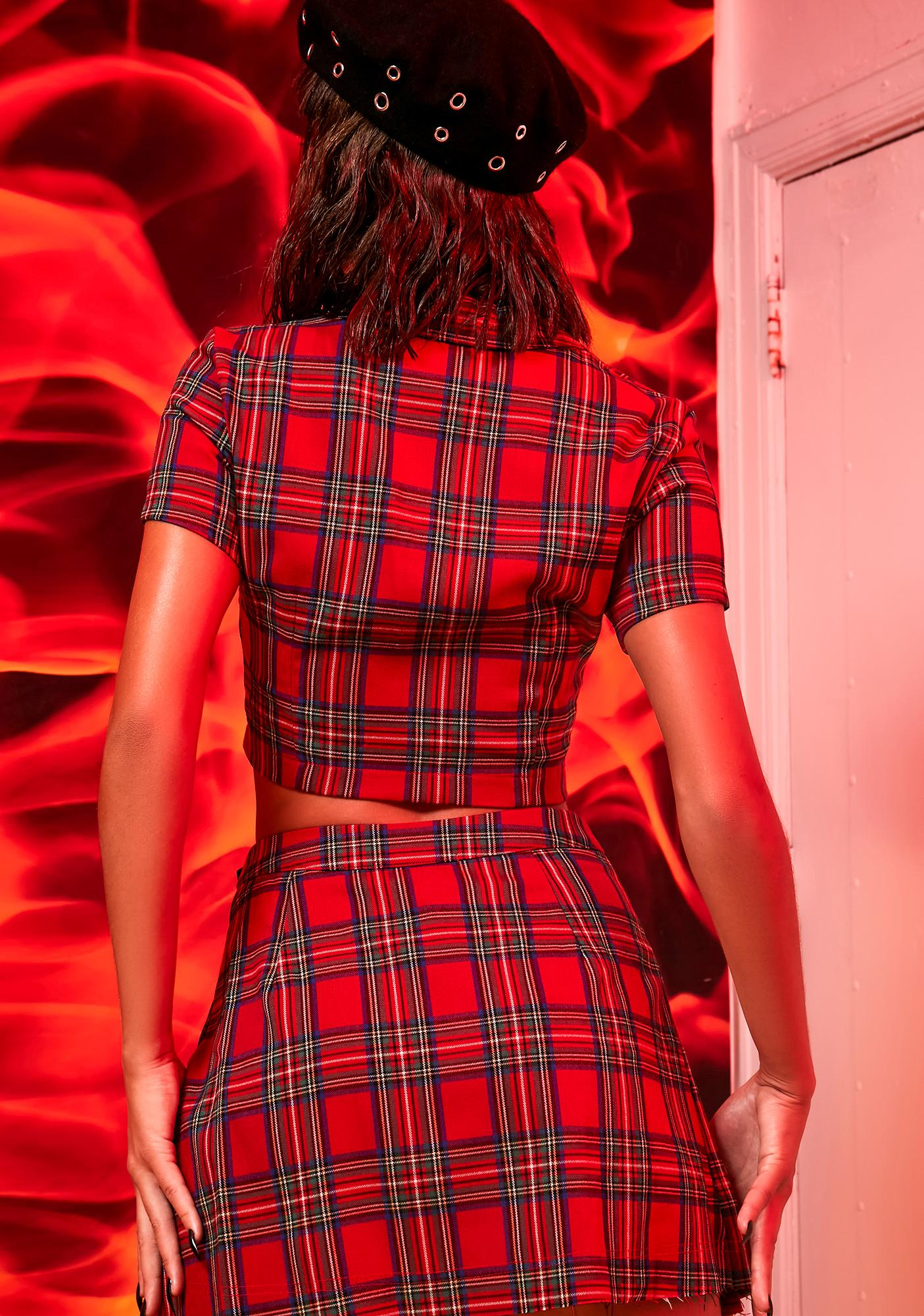 Current Mood Anything But Ordinary Plaid Pleated Skirt