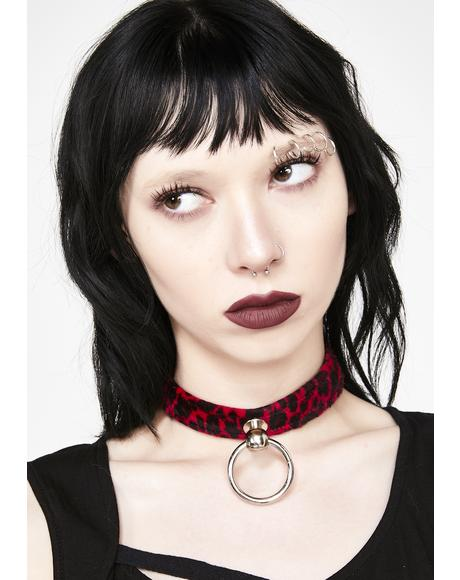 Naughty Kitty Leopard Choker