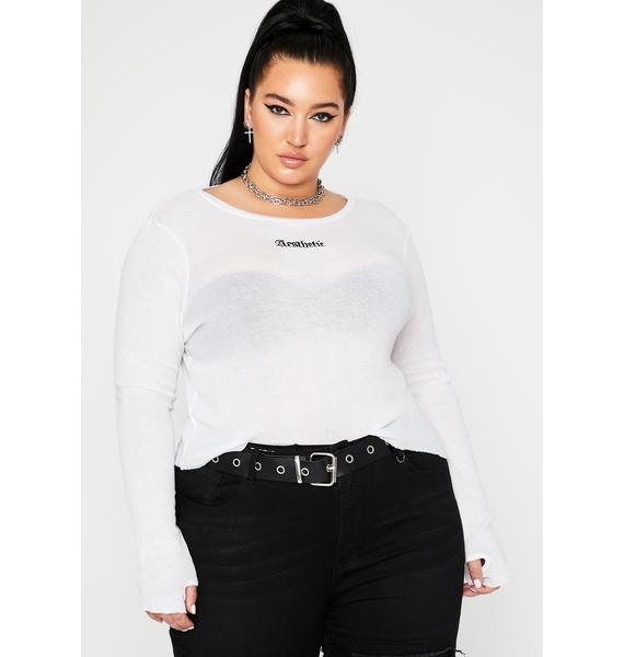 Current Mood Exclusive Style Section Long Sleeve Tee