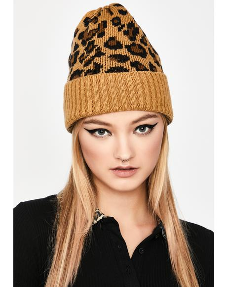 Sienna Fierce Winter Leopard Beanie