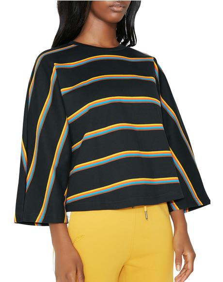 Glenda Box Fit Stripe Top