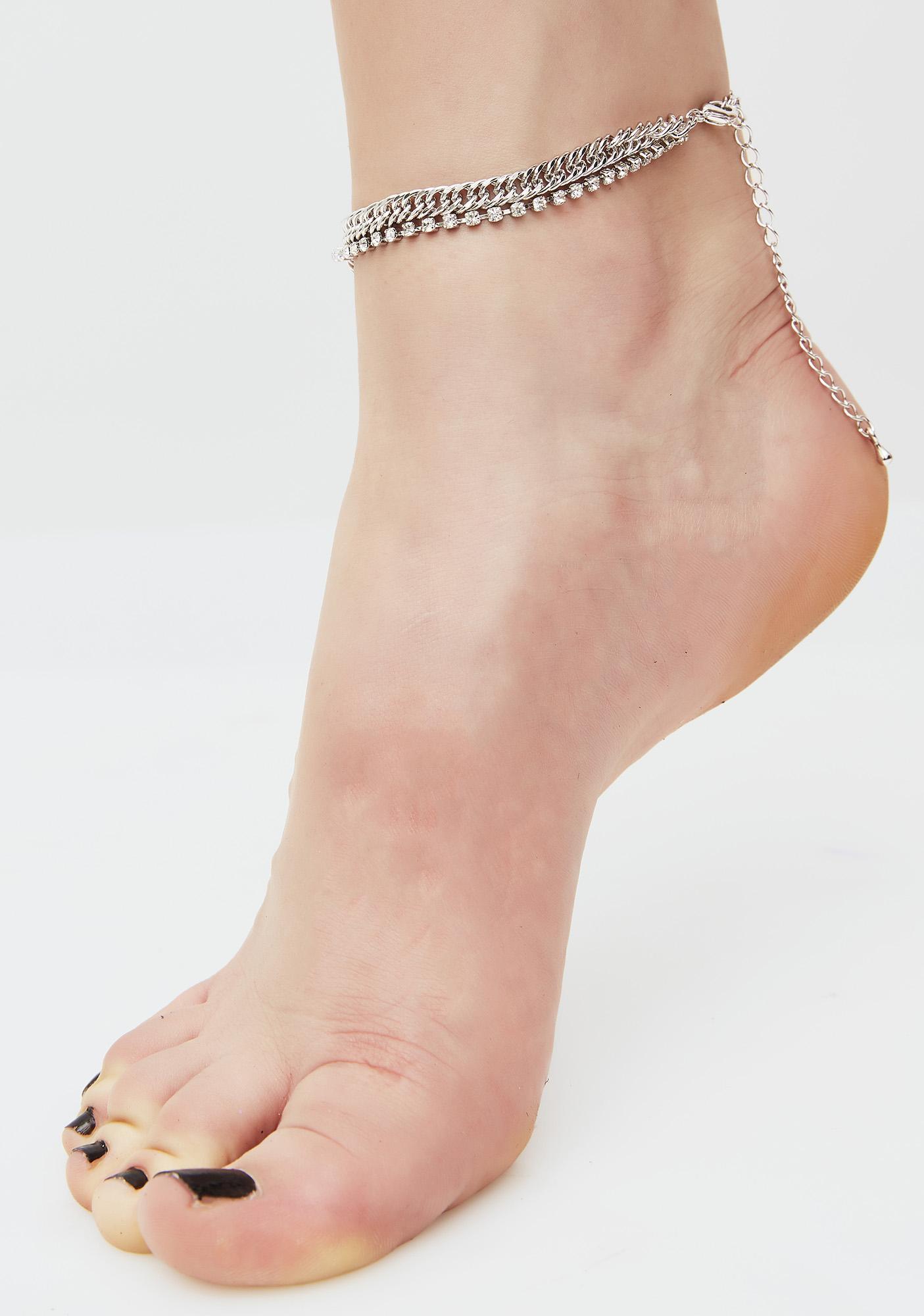 Spark Of LIght Rhinestone Chain Anklet